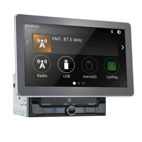 "Dual DMCPA11BT 10.1"" Digital Media Receiver with Bluetooth, Apple CarPlay, and Android Auto"
