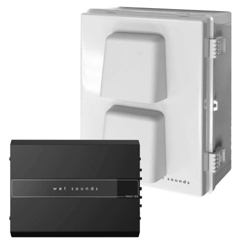 Wet Sounds Venue Series 110V 1200W 4 Channel Amplifier with  Enclosure