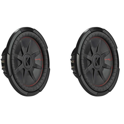 Kicker 12 Inch Comp RT Thin Woofer Includes Two 48CWRT122 2 Virtual 2 ohm Package