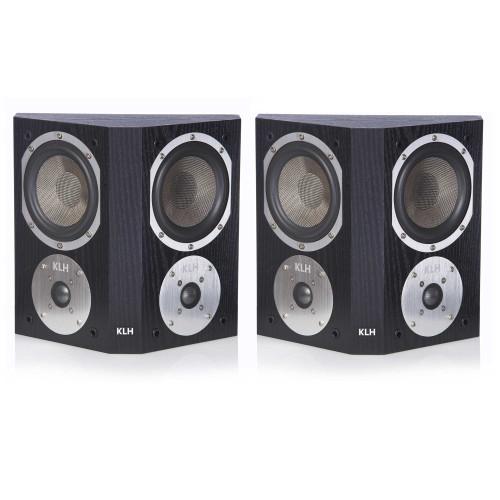 KLH Beacon Surround Speaker, Sold As A Pair - Black Oak