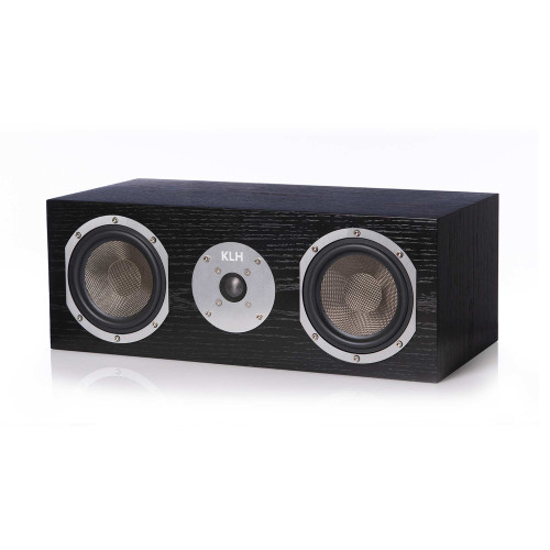 KLH Story Center Channel Speaker - Black Oak