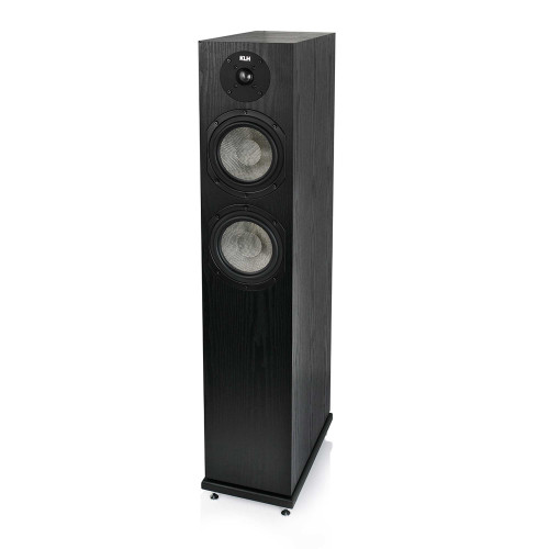 KLH Concord Floorstanding Loudspeaker, 2.5-Way Bass Reflex with Woven Kevlar Drivers - Black Oak