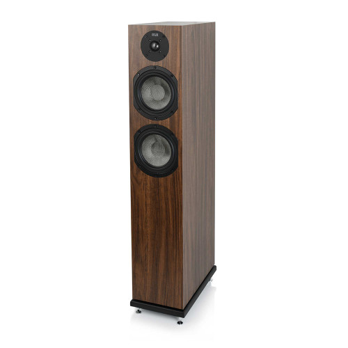 KLH Concord Floorstanding Loudspeaker, 2.5-Way Bass Reflex with Woven Kevlar Drivers - European Walnut