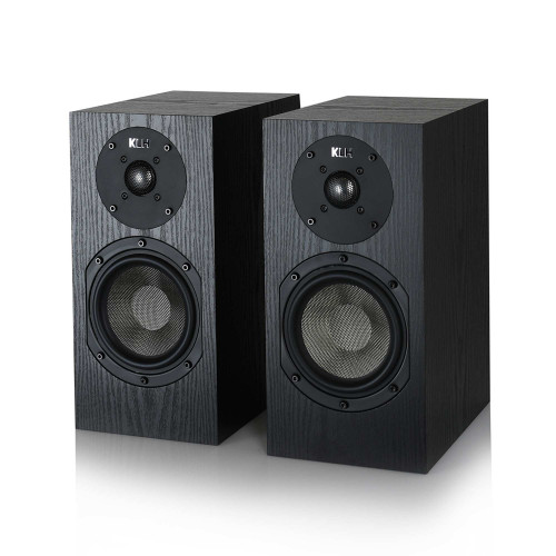 KLH Albany II Bookshelf Loudspeakers, Sold as a Pair - Black Oak