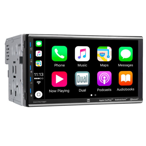 "Dual 7"" Media Receiver with Bluetooth, Apple CarPlay, and Android Auto"