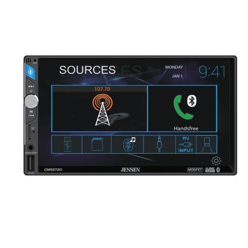 "Jensen CMR2720 7"" Mechless Receiver w/ Bluetooth, USB, Front & Rear Camera Inputs"