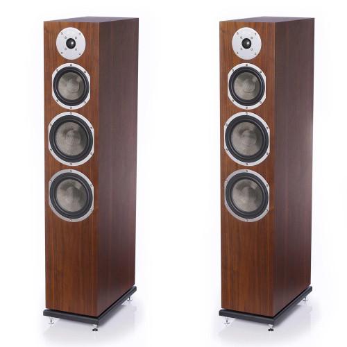 KLH Kendall Floorstanding Loudspeaker, 3-Way Bass Reflex with Woven Kevlar Drivers - Pair, American Walnut