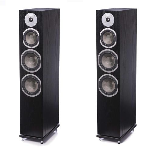 KLH Kendall Floorstanding Loudspeaker, 3-Way Bass Reflex with Woven Kevlar Drivers - Pair, Black Oak