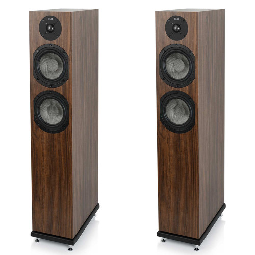 KLH Concord Floorstanding Loudspeaker, 2.5-Way Bass Reflex with Woven Kevlar Drivers - Pair, European Walnut Veneer