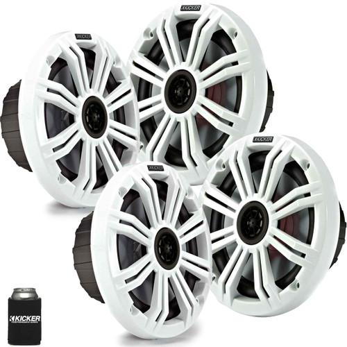 "Kicker 6.5"" White Marine Speakers (QTY-4) 2 pairs of OEM replacement speakers"