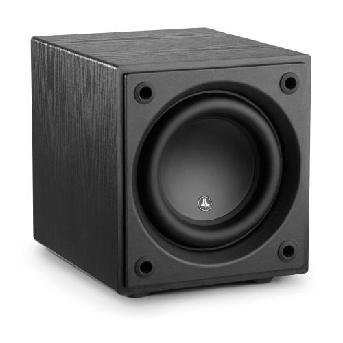 """JL Audio d108-ASH 8"""" subwoofer driver, sealed enclosure, 500W RMS amplifier - Black Ash"""