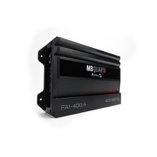 MB Quart FA1-400.4 Formula Series 4 x 50 Watts @ 4 ohms, 4 x 100 Watts @ 2 Ohms , 2 x 200 Watts Bridged @ 4 Ohms - Used Good