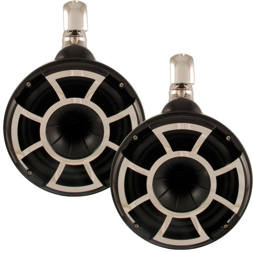 """Wet Sounds REV8 8"""" Swivel Clamp Tower Speakers - Black (Pair) - Used Open Box"""