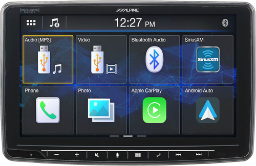"""Alpine iLX-F259 HALO9 9"""" AM/FM/audio/video Receiver w/ 9-inch Touch Screen and Mech-less Design - Single-DIN Mounting - Used Acceptable"""