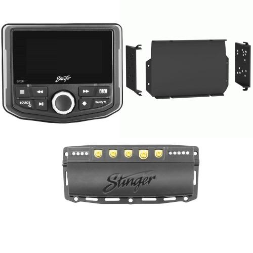 Stinger SPXM1 Marine/Powersports Media Player with SPXSH440 100 Amp Switch Hub and 2016-21 General Dash Kit
