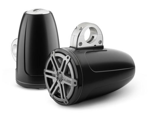 JL Audio MCS7ETXV3-5-TB-S M-Series 7.7-inch Tower Speaker System With Titanium Sport Grills & Black Enclosures, OEM brown box package, Black Badge Only