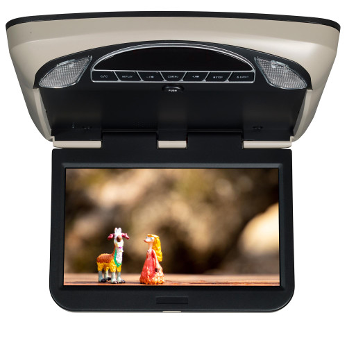 """Audiovox 10.1"""" Overhead Monitor SmartTV Ready, DVD, HDMI, SD, and USB Entertainment System"""