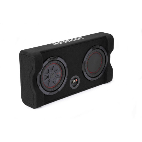 Kicker 48TRTP82 TRTP 8-inch Thin Down Firing Subwoofer and Passive Radiator Enclosure, 2-Ohm