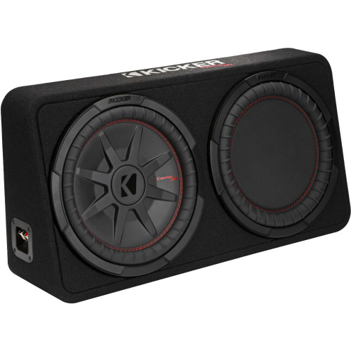 "Kicker 48TCWRT122 CompRT 12"" subwoofer in thin profile enclosure, 2ohm"