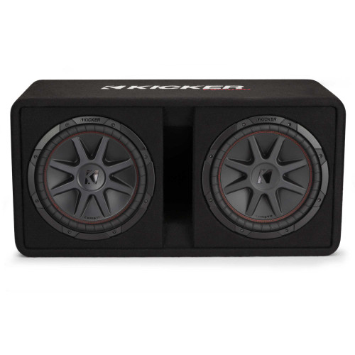 "Kicker 48DCVR122 CompVR 12"" dual subwoofers in vented box, 2-ohm"