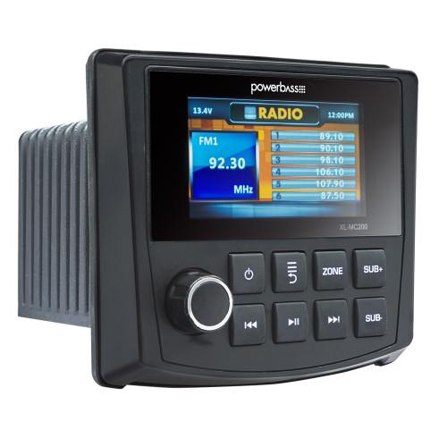 PowerBass MC-200 - Powersports Radio 50W x 4 With  Built in Bluetooth & AM/FM Multi Zone