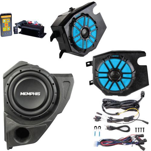 Memphis Audio RZRCORE2P 2 Speaker UTV Audio with Subwoofer for Polaris RZR 2014 and newer