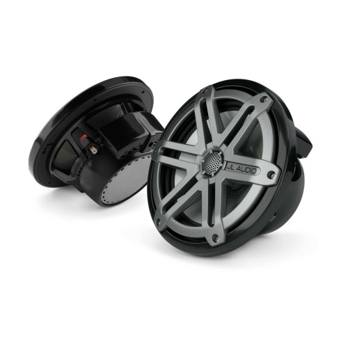JL Audio M770-CCX-SG-TB Titanium Sport Marine Speaker OEM brown box packaged sold as a pair black badge