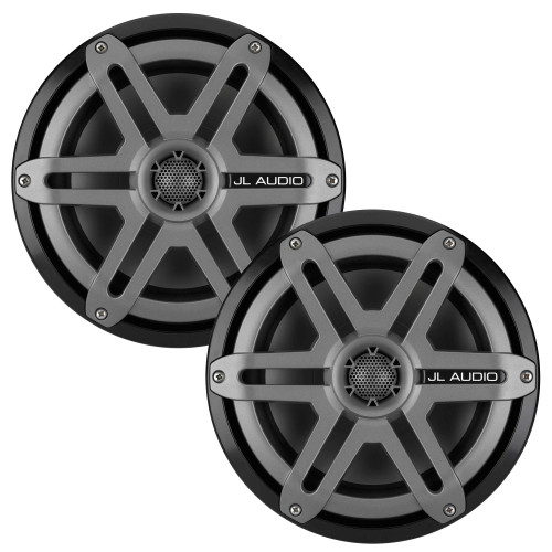 JL Audio M880-CCX-SG-TB Titanium Sport Marine Speaker OEM brown box packaged sold as a pair black badge