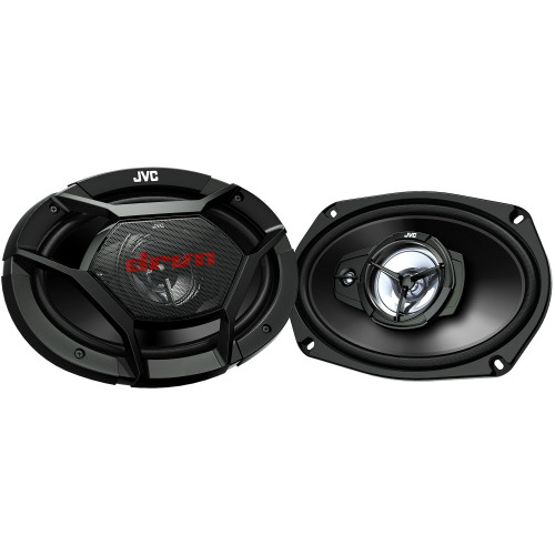 JVC CS-DR6931 500W Peak (70W RMS) 6x9 3-Way Factory Upgrade Coaxial Speakers - Pair - Used Very Good