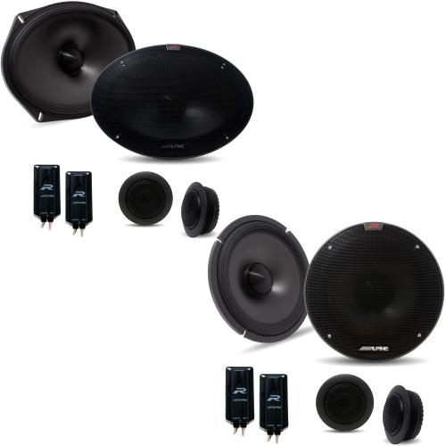 Alpine R-S69C.2 R-Series 6x9-inch Component 2-Way Speaker System with Alpine R-S65C.2 6.5 Inch Component 2-Way Speakers