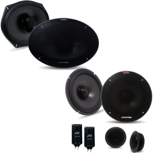 Alpine R-S65C.2 6.5 Inch Component 2-Way Speakers with Alpine R-S69.2 R-Series 6x9-in Coaxial 2-Way Speakers