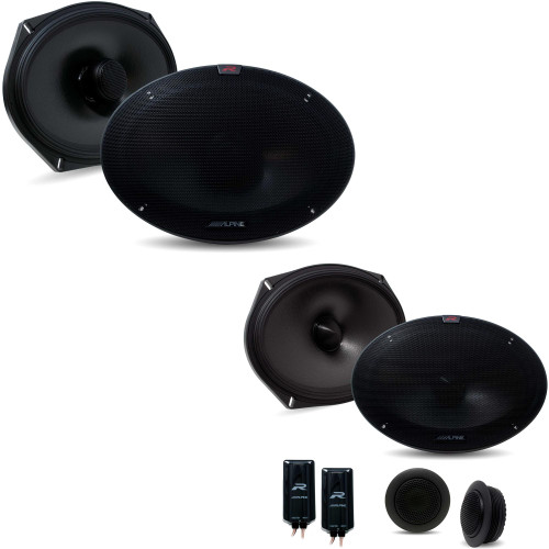 Alpine R-S69C.2 R-Series 6x9-inch Component 2-Way Speaker System with Alpine R-S69.2 R-Series 6x9-in Coax 2-Way Speakers