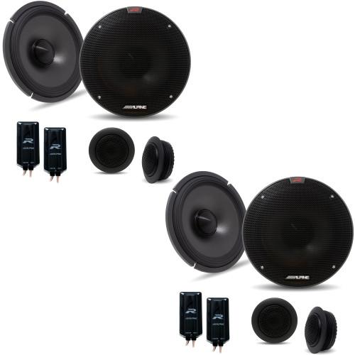"Alpine R-S65C.2 Bundle - Two pairs of Alpine R-S65C.2 6.5"" Component 2-Way Speakers"