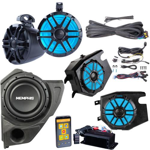 Memphis Audio RZRCORE4P 4 Speaker UTV Audio with Subwoofer for Polaris RZR 2014 and newer
