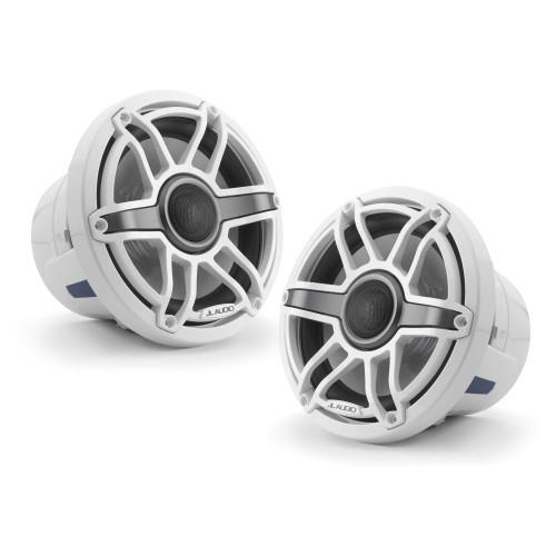 JL Audio 8.8-Inch M6 Marine Coaxial Speaker System, Gloss White, Sport Grille - SKU: M6-880X-S-GwGw - Open Box