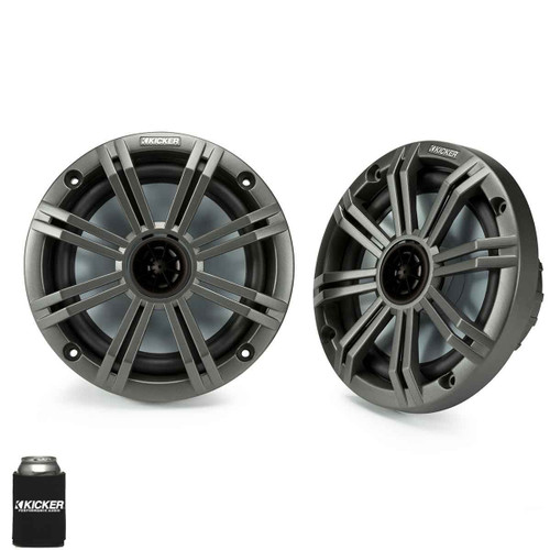 "Kicker 6.5"" Charcoal Marine Speakers (QTY 2) 1 pair of OEM replacement speakers"