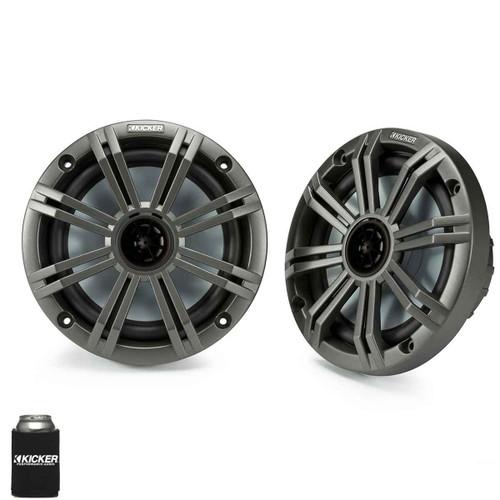 "Kicker 6.5"" Charcoal Marine Speakers (QTY 2) 1 pair of OEM replacement speakers"