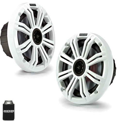 "Kicker 6.5"" White Marine Speakers (QTY 2) 1 pair of OEM replacement speakers"