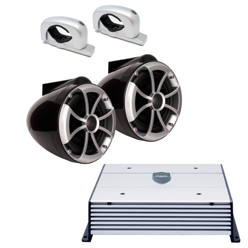 """Wet Sounds ICON8 8"""" Tower Speakers and Wet Sounds HTX2 Amplifier"""
