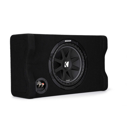 "Kicker 48CDF104 Comp 10"" Subwoofer in Down Firing enclosure, 4-Ohm"