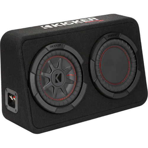 """Kicker 48TCWRT82 CompRT 8"""" subwoofer in thin profile enclosure, 2ohm"""