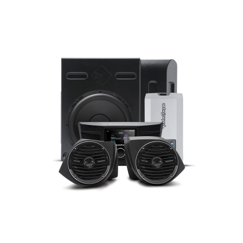 Rockford Fosgate YXZ-STAGE3 400 Watt Stereo, Front Lower Speaker, And Subwoofer Kit Compatible With Select Yxz Models