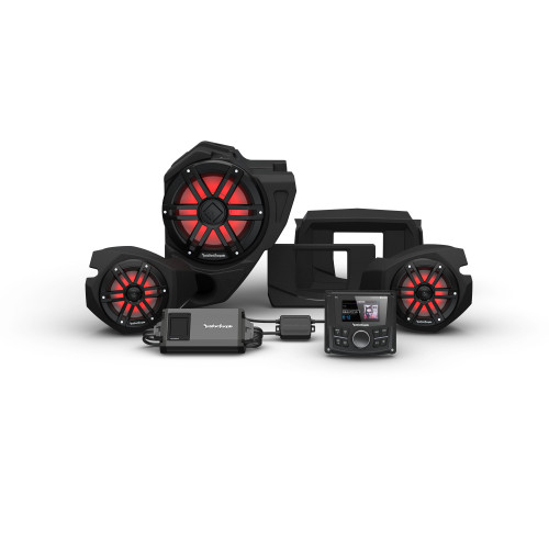 Rockford Fosgate RZR14-STG3 Pmx-2, 800w, Color Optix Front Speakers & Color Optix Sub Kit Compatible With Select RZR Models