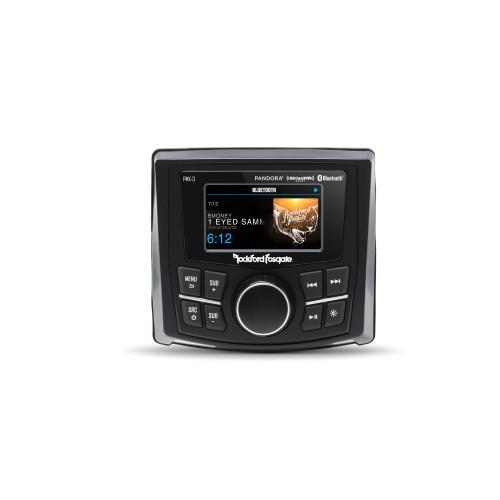 "Rockford Fosgate PMX-3 2.7"" Wet Bonded IPX6 Color Marine Media Receiver with Bluetooth, Siriusxm Ready, Pandora, Composite Camera, Aux Rca, Apple Mfi Usb Input, Am/Fm/Wb,"