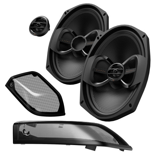 """Infinity KAPPA Perfect 900X Premium 6x9"""" Bag Lid Speakers Compatible with Harley Davidson - Includes Grilles"""
