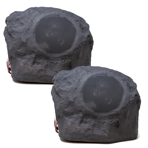Legrand MS1655SLV1 Wired Outdoor Rock Speakers, Slate (Pair)