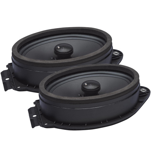 """PowerBass OE692-GM - 6 x 9"""" Direct Fit - Compatible with GMC OEM Coaxial Speakers / 80Wmrs - 160Wmax - Pair"""