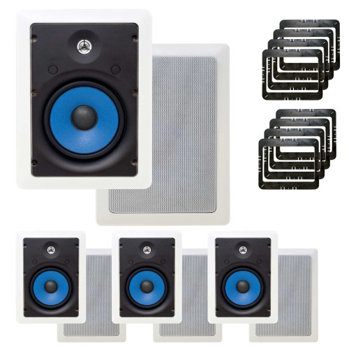 Legrand In-Wall Speaker Contractor Case Packs with In Wall Mounting Brackets
