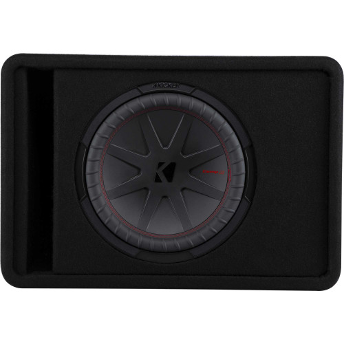 """Kicker 48VCWR122 CompR 12"""" single subwoofer in vented enclosure, 2-ohm - Used Acceptable"""