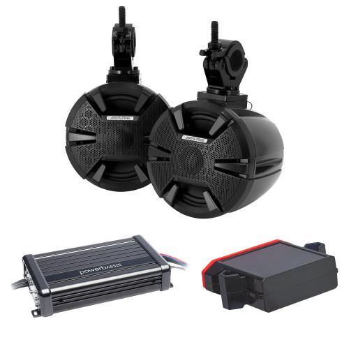 "Alpine SPV-65-SXS 6.5"" Powersports Cage Mount Speaker Pods with XL-2305MX 2 CH Amp and XL-BTR1 Bluetooth Receiver"